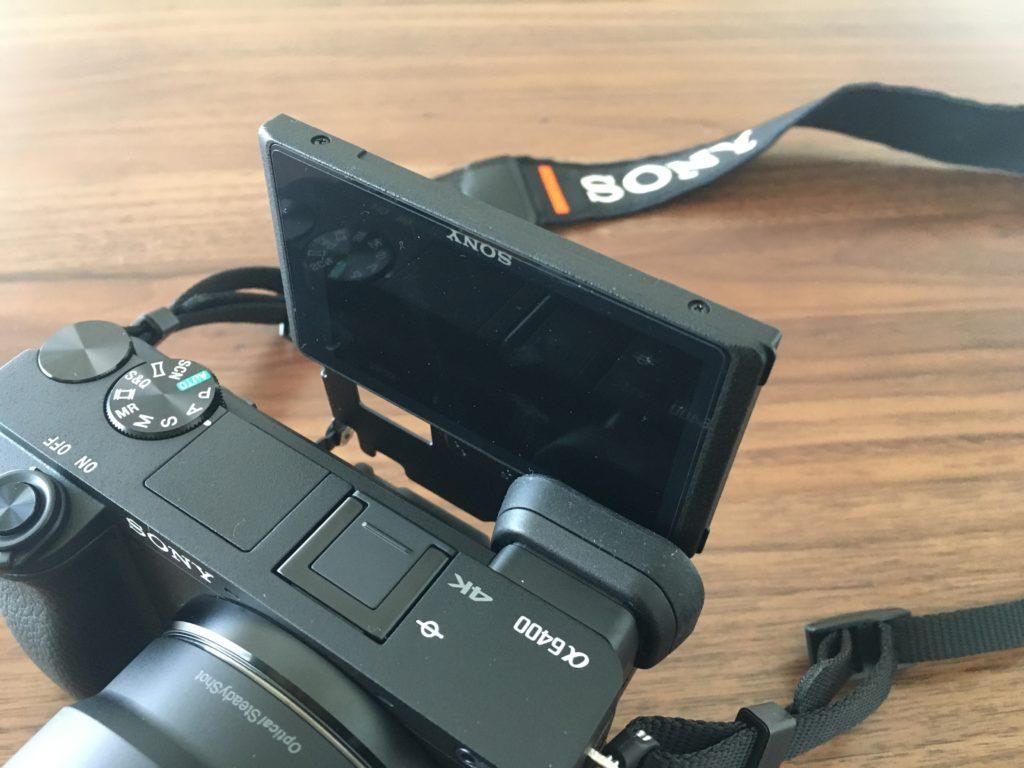 α6400の自撮り液晶画面