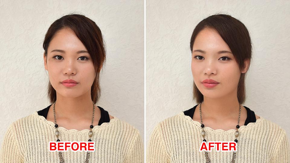 写真の顔の向きを変える